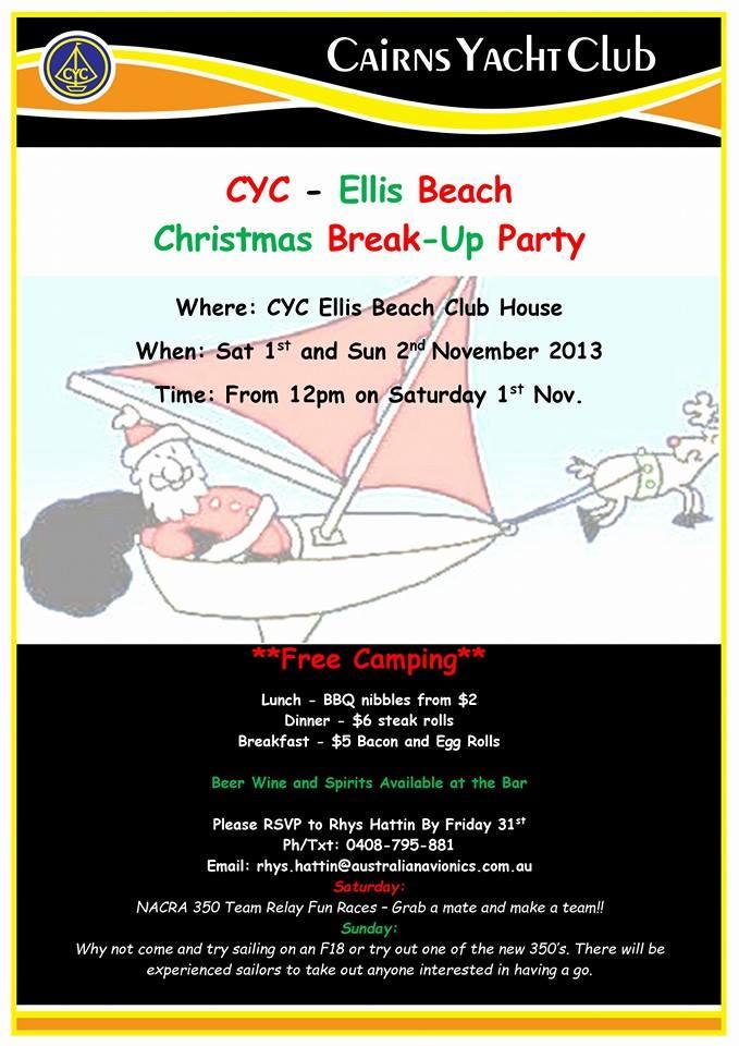 ellis beach christmas break up party - When Is Christmas Break