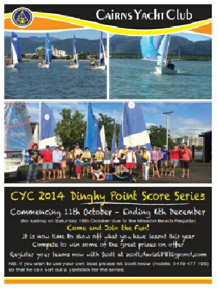 dinghy point score series oct to dec 2014