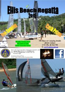 Ellis Beach Regatta flyer - 2015