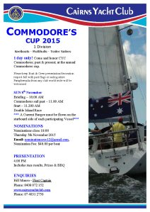 Commodores Cup 2015 flyer