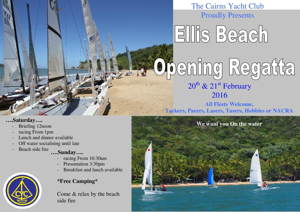 Ellis Beach - Opening regatta 2016